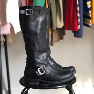 Frye Veronica Slouch Motorcyle Boots